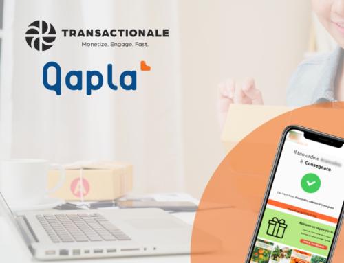 Premia i tuoi clienti nell'email di tracking: come la partnership Transactionale-Qapla' aiuta gli eCommerce a monetizzare